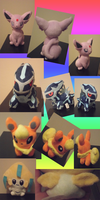 Collage - Plushies Photos by lightvanille