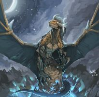Moon dragon by Pacelic