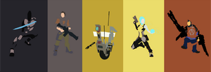 Borderlands 2 Playable Characters with Clap Trap by OneMadNugget
