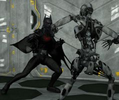 Batman Beyond vs Cyborg by hiram67