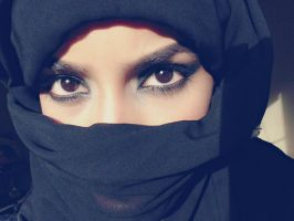 Black hijab stock 1 by Desert-Winds