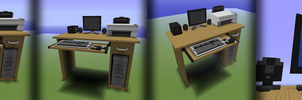 Minecraft Computer Desk by david-ng