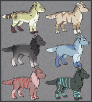 Canine batch [3/6 OPEN] by Glasiar