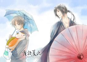 Natsume and Matoba in rain by astridyue