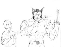 Aang and Wolverine by Charger426