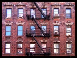 NYC - Red Building by clairwitch