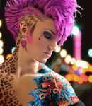 Girl with the Pink Mohawk by sparrino