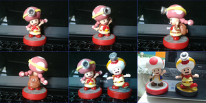 Toadette custom amiibo by Gregarlink10