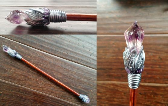 Amethyst Point Wand by KaijuClayCreations