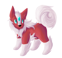 Commission - Husky Fakemon by Maipee-Chan