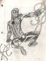 Spiderman Swinging by SonicXfan007