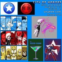 City of Heroes shirts on unamee.com by syrusbLiz