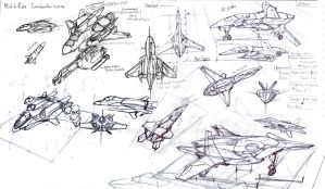 Fighter Sketch by Loone-Wolf