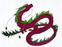 Eastern Dragon Colored by StyxxsOmega