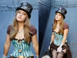 blue steampunk by marina-mew