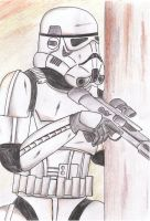 stormtrooper on the guard by Funtimes