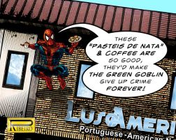 Spidey Likes Coffee and Cake by NelsonRibeiro
