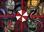 WWC'08: Resident Evil cards by grantgoboom