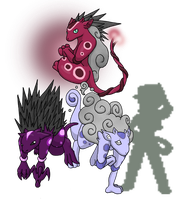 Legendary Fakemon Trio by chubby-choco