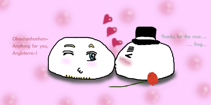 France x England mochis - Thank you for the rose by CupidFireAngel