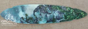 Commissioned Longboard by AKOrganicAbstracts