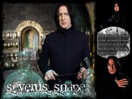 Severus Snape Wallpaper by theLastFlowerchild