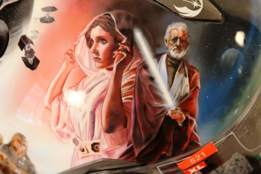 Detail of airbrushed Star Wars helmet by SimonaZ