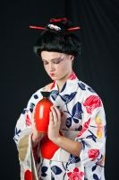 Geisha with Vase by Della-Stock
