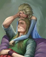 Request : Elsa and Sabre by AkinoMay