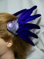 Purple Valkyrie hair clips by AmandaKathryn