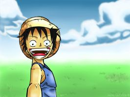 """Come on!"" -Monkey D Luffy by ANiMEAddiCt4EVA"