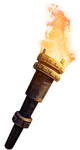 Firetorch   with fire by P-R-O-J-E-C-T
