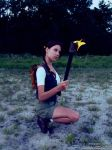 Little Lara Croft - fire by TanyaCroft
