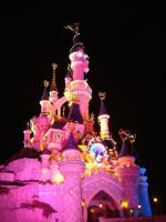 disney palace at night by Miss-Sweetlivvy