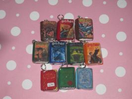 Harry Potter Series Book Charms Group Set by ichigoluv