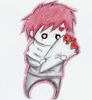 Gaara with Flowers X3 by Riku-X-Gaara