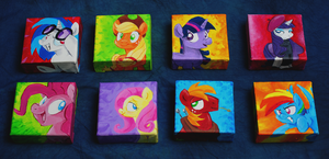 My Little Pony Paintings by sophiecabra