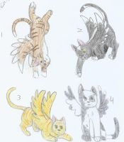 Winged Cat Adoptables +3 OPEN+ by ElysLullabye