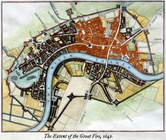 The Great Fire of London, 1647 by edthomasten