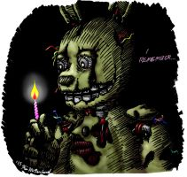 Springtrap Remembers in Color by Negaduck9