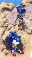 Fight with Metal Sonic by Elisto