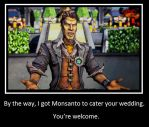 Handsome Jack : Monsanto by desolatewolf