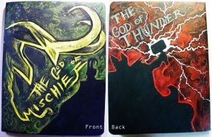 Thor and Loki notebook by undead-medic