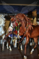 Christmas Holiday Color Arabian show halter by EternalJustice002