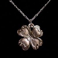 Lucky 4 Leaf Clover Necklace by Om-Society