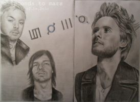 3o seconds to mars by 1drawingGirl