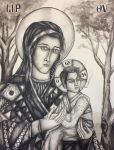 Theotokos and the Toking Child by johnrego96