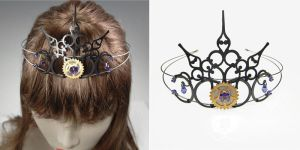 Purple Steampunk Tiara V3 by YouniquelyChic