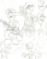 .:Luigi Sketch of 19th July:. by Miapon