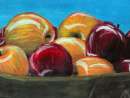 Basket of Apples by kimberly-castello